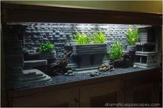 Dramatic AquaScapes - DIY Aquarium   http://doityourselfcollections.blogspot.com