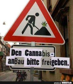Den Cannabis-Anbau bitte freigegeben. | Lustige Bilder, Sprüche, Witze, echt lustig