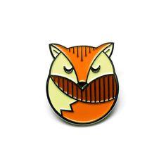 Lost lust enamel pin fox