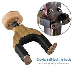Guitar Wall Hanger Auto Lock Rack Hook HolderLoietnt MultipleGuitar Stands Wall Mount Bracket Fits Home Studio Display All Guitar Acoustic Bass MandolinEasy Installation Compact * Check out the image by visiting the link.Note:It is affiliate link to Amazon.