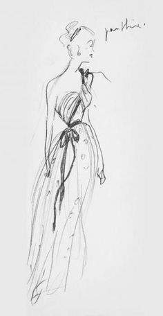 the king of couture - Christian Dior's sketch