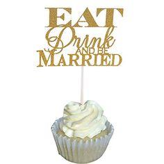 Aisila Pack of 20 Glitter Eat Drink and be Married Weddin... https://www.amazon.com/dp/B01LLA7L0E/ref=cm_sw_r_pi_dp_x_aZbfybNYMKGT4