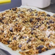 We're preparing our very first batch of homemade granola in the café today as part of our brand new breakfast menu. Breakfast Menu, Breakfast Time, Vegan Granola, Exhibitions, Banana Bread, Oatmeal, Food Porn, Homemade, Coffee