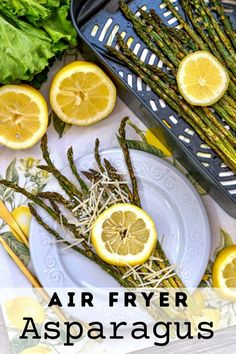 If you are looking for an incredibly easy side to make then look no further than these Air Fryer Asparagus. With less than 5 minutes of prep, and a few minutes of cooking you will have a perfect side dish to serve with any meal! Drink Recipes, Fall Recipes, Holiday Recipes, Asparagus, Ways To Cook Chicken, Best Air Fryers, Low Calorie Snacks, Lemon Slice, Healthy Eating Recipes
