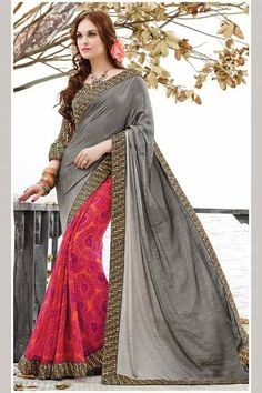 # party # sarees @ http://zohraa.com/pink-faux-georgette-saree- adm-sr-va-2514.html # celebrity # zohraa # onlineshop # womensfashion # womenswear # bollywood #look # diva #party # shopping # online # beautiful # beauty #glam # shoppingonline # styles # stylish # model # fashionista # women # lifestyle #fashion # original # products # saynotoreplicas