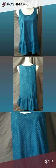 NWOT Women's Small Fab Fit Shift Dress Very cute, teal color, shift dress.  New without tags, never worn.  Loose fit... size runs Big! Fab Fit Dresses Midi