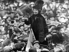 "Emmeline Pankhurst After selling their home - pictured in New York in 1913 - traveled constantly, giving speeches throughout the United Kingdom and the United States on women's rights His story is in the movie ""The suffragettes"" https://youtu.be/R8le4sZHRdE"
