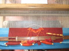 Bobbins on a tapestry in progress...