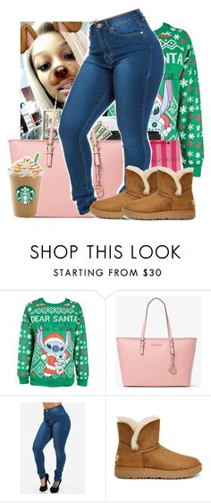 """vibes"" by daradior ❤ liked on Polyvore featuring Disney, Chanel, Victoria's Secret, MICHAEL Michael Kors and UGG"