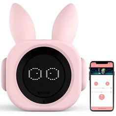 VOBOT [New Version Bunny Kids Alarm Clock, Smart Alarm Clock with Alexa, Night Lights and Sleep Sounds Machine for Children/Toddler, Customizable Sleep Training Program App - Bright Pink