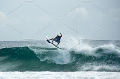 Surfer doing aerial / air by elyse.lu on @creativemarket - available for purchase Swell Surf, Surfer Guys, Gold Coast, Fighter Jets, Surfing, Australia, Summer, Rocks, Creative