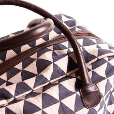 Pyramid Weekender Bag by Rising Tide Fair Trade is block-printed by hand and spacious enough for your next adventure!