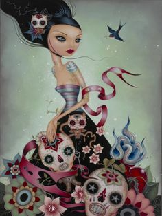 Lovely Dia de los Muertos Art