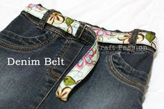 Recycle Denim Hem Into Belt