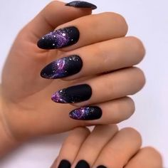 44 trendy manicure nails ideas for this winter page 38 Edgy Nails, Grunge Nails, Stylish Nails, Cute Nails, Pretty Nails, Halloween Acrylic Nails, Fall Acrylic Nails, Matte Pink Nails, Purple Nails