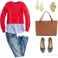 A fashion look from September 2014 featuring J.Crew sweaters, J.Crew jeans and J.Crew loafers. Browse and shop related looks.