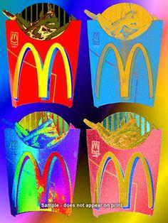 McDONALD'S FRIES - Pop Art - Giclee Print on Fine Art Etching Paper on Etsy, $25.00