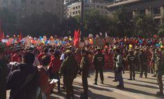 Manifestación contra el aborto en Santiago de Chile. Fundación pro vida Chile siempre. 26-05-2014