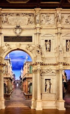 The Teatro Olimpico in Vicenza by Andrea Palladio is the first indoor theater in masonry in the world. (via Italian Ways | The Olympic Theater in Vicenza)