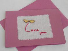 Kaart 'Love you' van FromHelloToGoodbye op Etsy