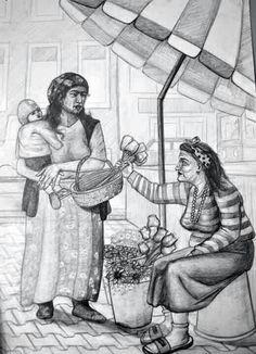 Çicekci ve cingene imgesel cizimi. Human Figure Sketches, Figure Sketching, Figure Drawing, Composition Drawing, Drawing Poses, Drawing Ideas, Sketch Painting, Pencil Art Drawings, Pastel Drawing