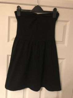 5462e24c594 H&M Womens Boobtube Bandeau Mini Dress Black Size 12 Medium Cut Out  Back #