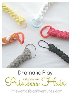 Easy DIY Princess Dress Up Braid Tutorial - perfect for imaginative play
