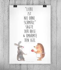 Motivierendes Poster über die Liebe / motivational art print about love made by small-world via DaWanda.com