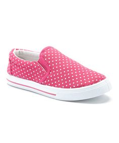 This Pink Polka Dot Slip-On Sneaker by Capelli New York is perfect! #zulilyfinds