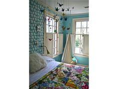 So many charming things: swing chair, quilt, cranes, polar bear wall paper  by lynn-anne bruns