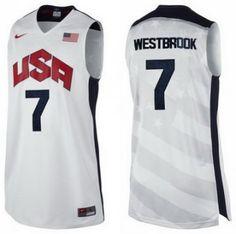 camisetas usa 2012 blanca con westbrook 7 http://www.camisetascopadomundo2014.com/