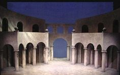 """Setting for """"Don Giovanni"""" designed by Colin Winslow Stage Set Design, Scenery, Landscape, Paisajes, Nature"""