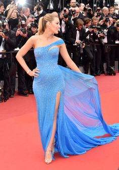 Blake Lively in Versace at Cannes