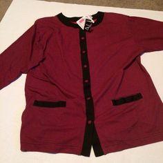 3d269e0712f92 Vintage plus size jersey knit shirt jacket shirtjack sz 20W Royal design  NOS NWT  RoyalDesign