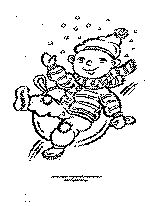 Free Winter Coloring Page: Boy Sledding