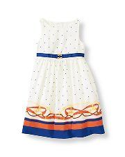 Equestrian Stripe Border Dress - Janie and Jack (A Girl and Her Horse)