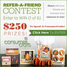 Enter to Win $250 in Craft Supplies from ConsumerCrafts...just in time for the holidays!