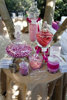 Love the candy table.  Photography by www.jessicaclaire.com