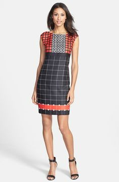 Anne Klein Geo Print Sheath Dress available at #Nordstrom