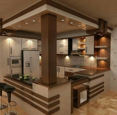 40 Awesome Craftsman Style Kitchen Design Ideas – Best Home Decorating Ideas Kitchen Room Design, Kitchen Cabinet Design, Modern Kitchen Design, Home Decor Kitchen, Interior Design Living Room, Kitchen Ideas, Kitchen Wood, Open Kitchen, Nice Kitchen