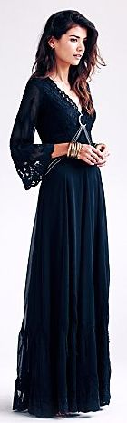Free People Boho Goth dress