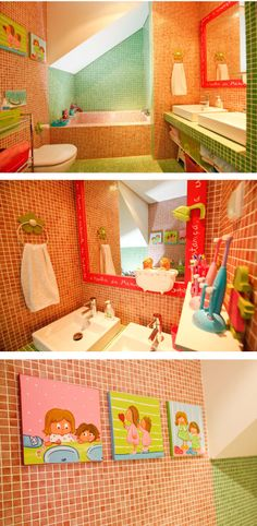 Colorful bathroom (by Cristiana Resina)