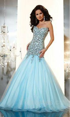 Elegant Natural Sleeveless Light Sky Blue Elastic woven satin Baby doll Prom Dress In Stock ykdress11186