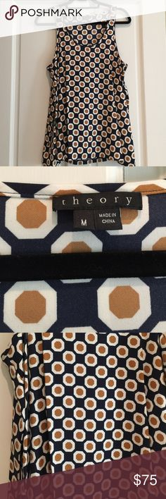 Theory Tank Beautiful Theory tank in great condition. Only worn once. Will be great under blazer or sweater this fall and winter. Beautiful colors and pattern. 🚫NO TRADES🚫 Theory Tops Tank Tops