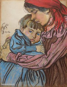 The Athenaeum - Motherhood - Artist's Wife and Son (Stanislaw Wyspianski - ) Pastel Portraits, Art Inspiration Drawing, Museum, Z Arts, Flash Art, Mother And Child, Female Portrait, Beautiful Paintings, Art Pictures
