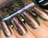 Nail Polish: Ultra Multichrome Flakie Glitter Top Coat Custom Indie (6 Impossible Things) 5ml/15ml
