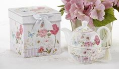 "Beautiful Porcelain Tea Pot for One in Pink Grace Pattern About 6 inches across Set comes apart so the top half is a tea pot, while the bottom half is a tea cup. Indulge in a cozy cup of tea for one. Includes teapot with lid and teacup in sturdy decorative gift box. Approx. 6"". Perfect for... - http://kitchen-dining.bestselleroutlet.net/product-review-for-delton-products-pink-grace-pattern-porcelain-tea-for-one-with-matching-keepsake-box/"