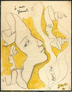 pastels et dessins de Jean Cocteau