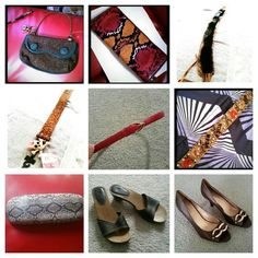 Pick any 3 for $19 Moving sale ! These items are listed individually in my closet with more details. Pick any 3 items for only $19 Belts, shoes, purses. (Mix of items, red genuine snake skin belt, tiger belt with black fur, some of the brands : grace adele, the limited, victoria's secret, roca wear, apt 9, nine west )  Let me know which 3 items you want and I will create a seperate listing for you. Accessories