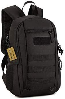 f7c57669a3f8 Amazon.com   Huntvp 12L Mini Daypack Military MOLLE Backpack Rucksack Gear  Tactical Assault Pack